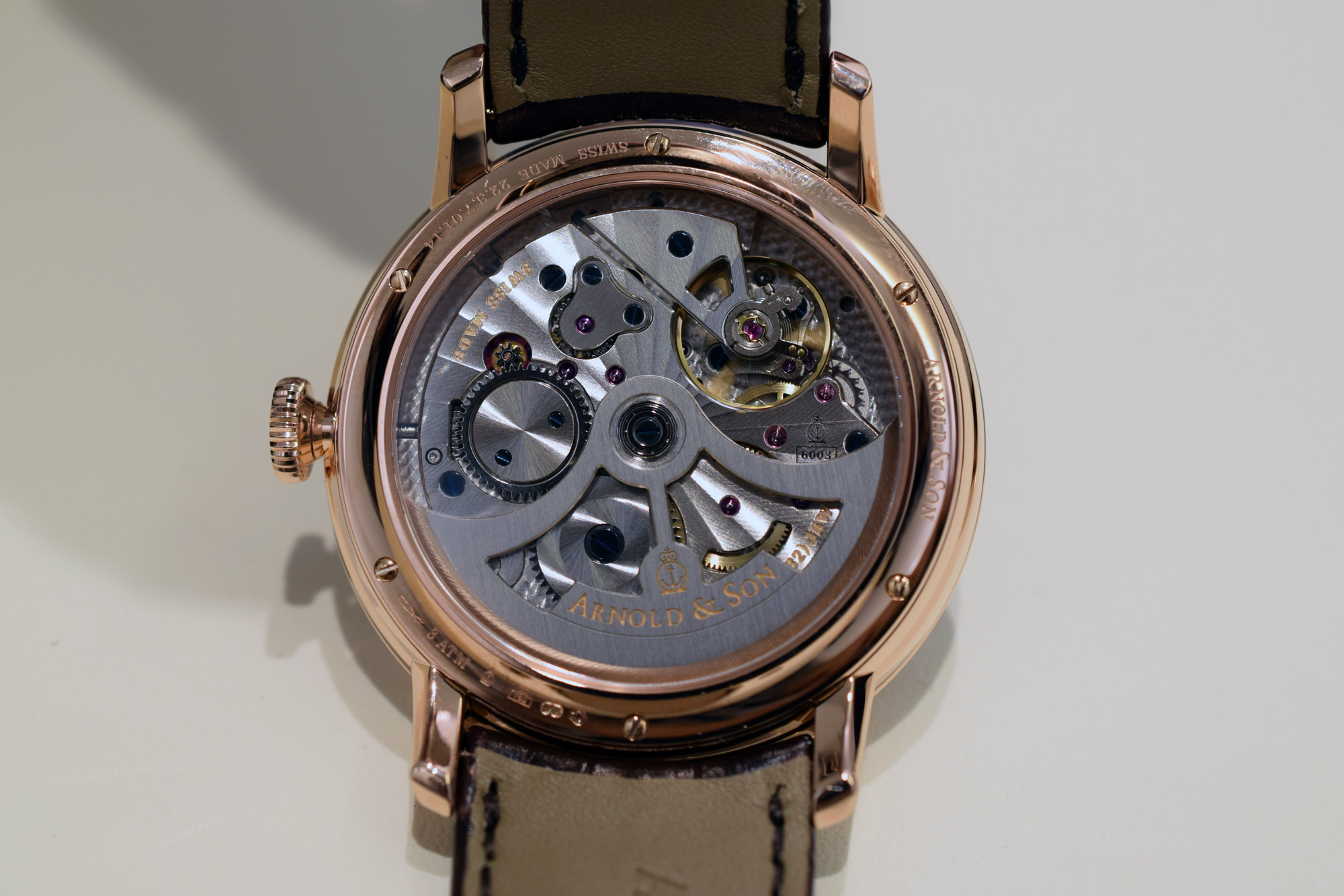 Arnold & Son Dial Side True Beat 250th Anniversary Edition - Caseback