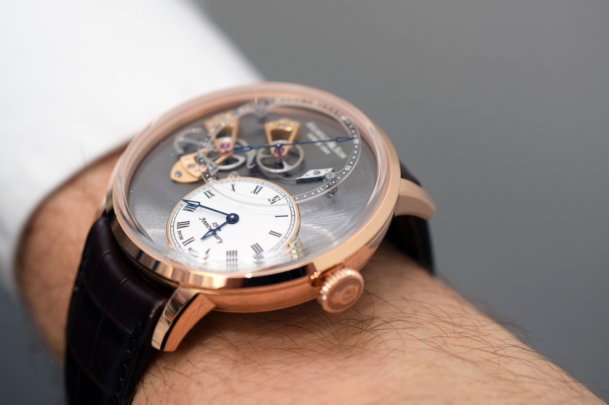 Arnold & Son Dial Side True Beat 250th Anniversary Edition - Wristshot