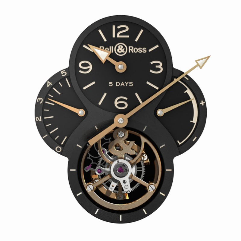 Bell & Ross WW2 Military Tourbillon Limited Edition - Dial