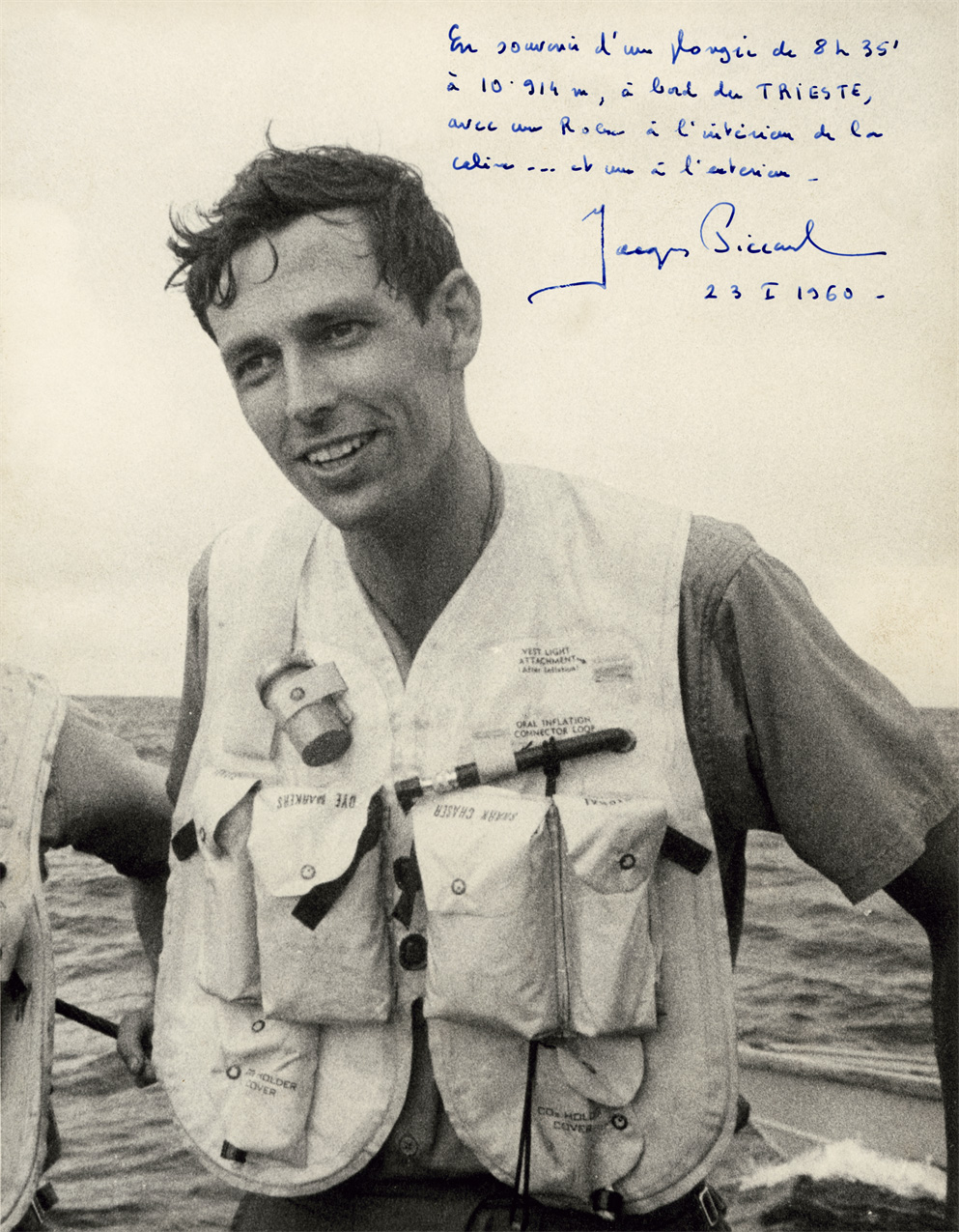 Swiss oceanographer and enginee Mr Jacques Piccard (1922-2008)