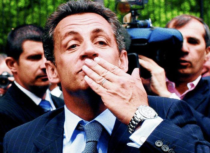 Nicolas Sarkozy wearing a Rolex Daytona Chrongraph