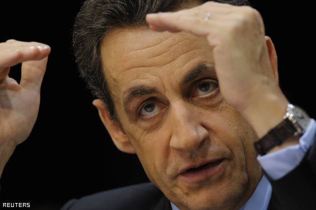 Nicolas Sarkozy wearing his Patek