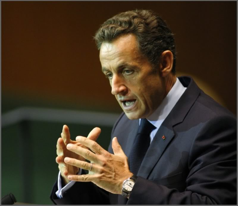 Sarkozy wearing a Patek Philippe Ref. 5140