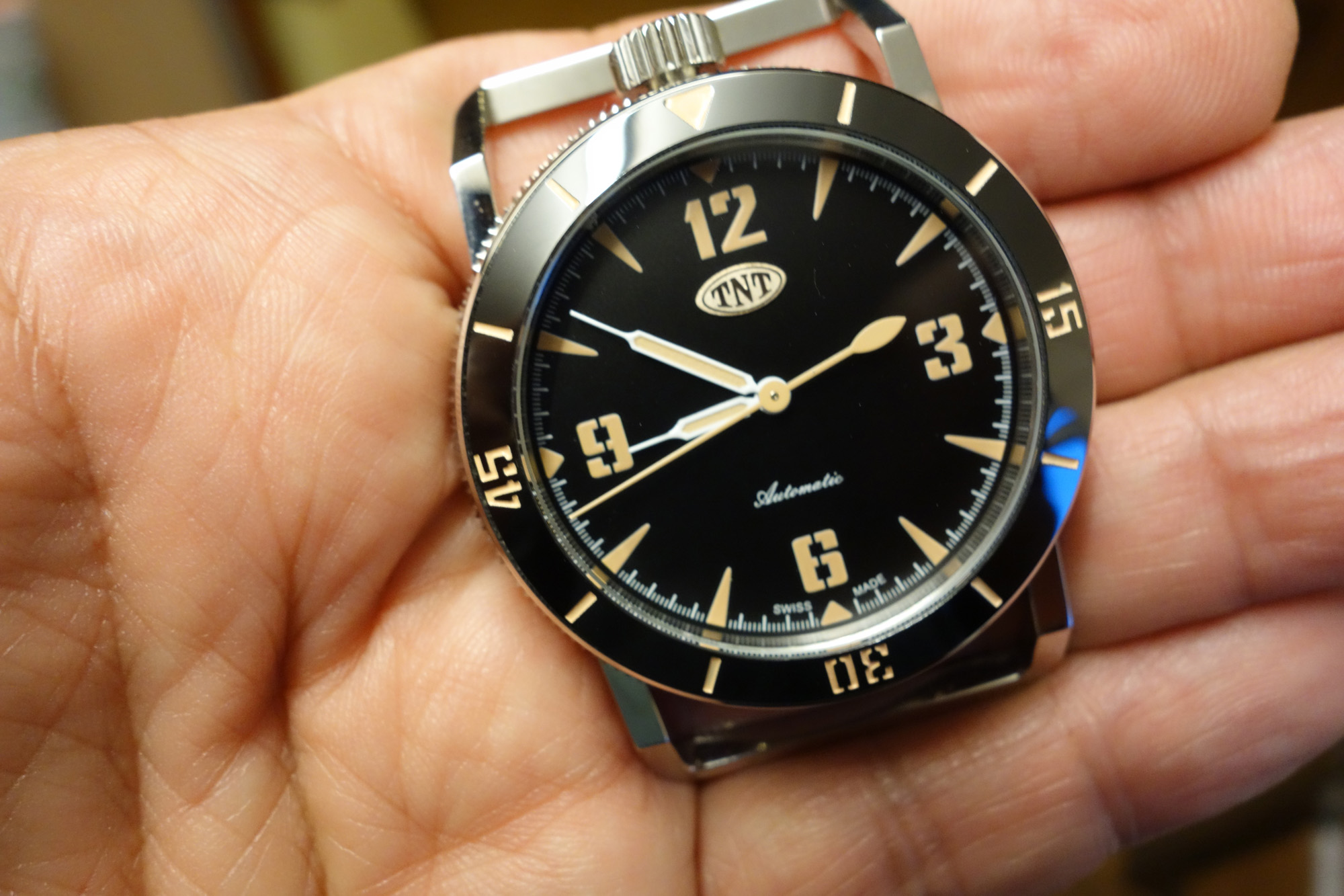 The TNT Challenger 1 watch