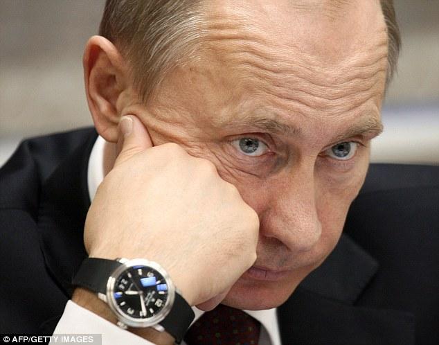 Vladimir Putin wearing a Blancpain