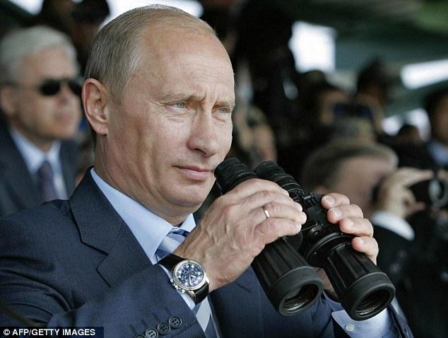 Vladimir Putin wearing one of his expensive watch