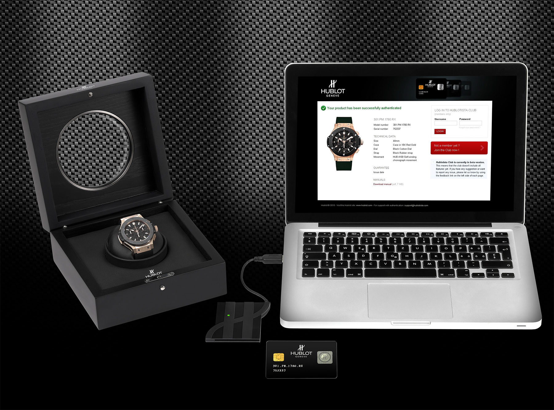 WISeKey Authentification System for Hublot Watche