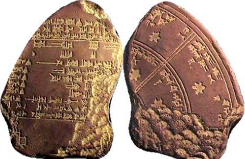 Babylonian astronomical tablet (Source: Pomona College)