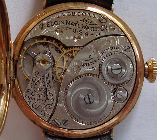 The same Elgin Pocket Watch exposed