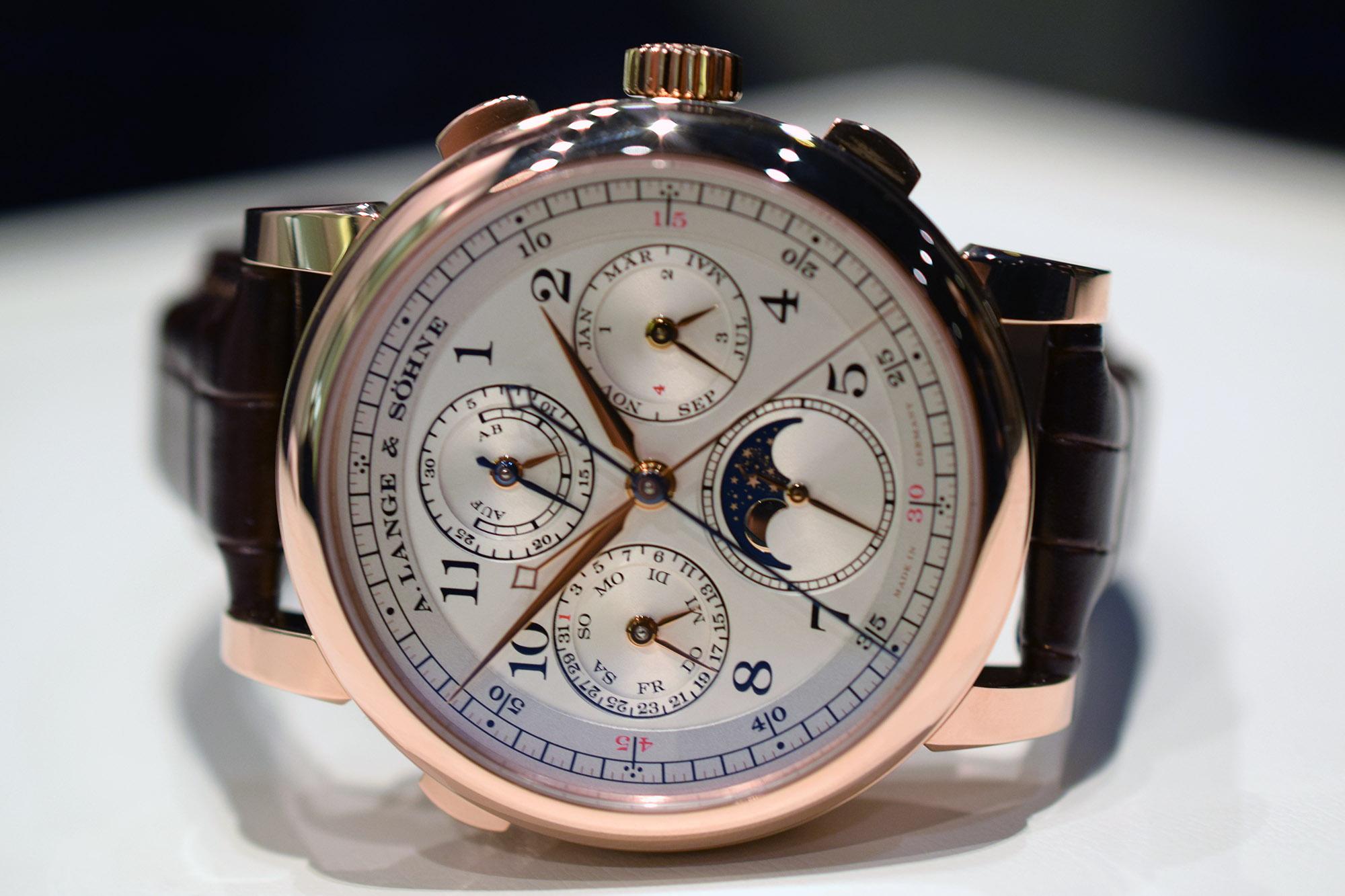 A. Lange & Söhne 1815 Rattrapante Perpetual Calendar - Dial
