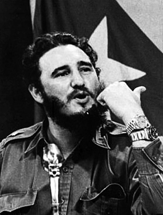 Fidel Castro wearing two Watches