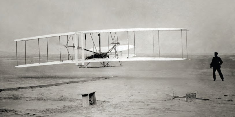 First flight at Kitty Hawk (North Carolina) in 1903