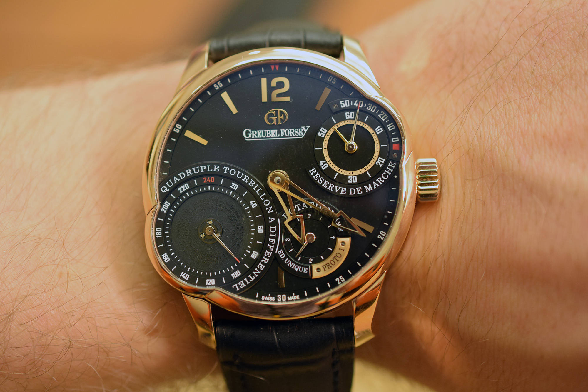 Greubel Forsey Secret Quadruple Tourbillon - Wristshot