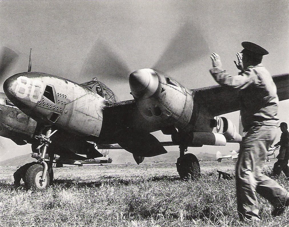 Major Antoine de Saint Exupéry inside his Lockheed P-38