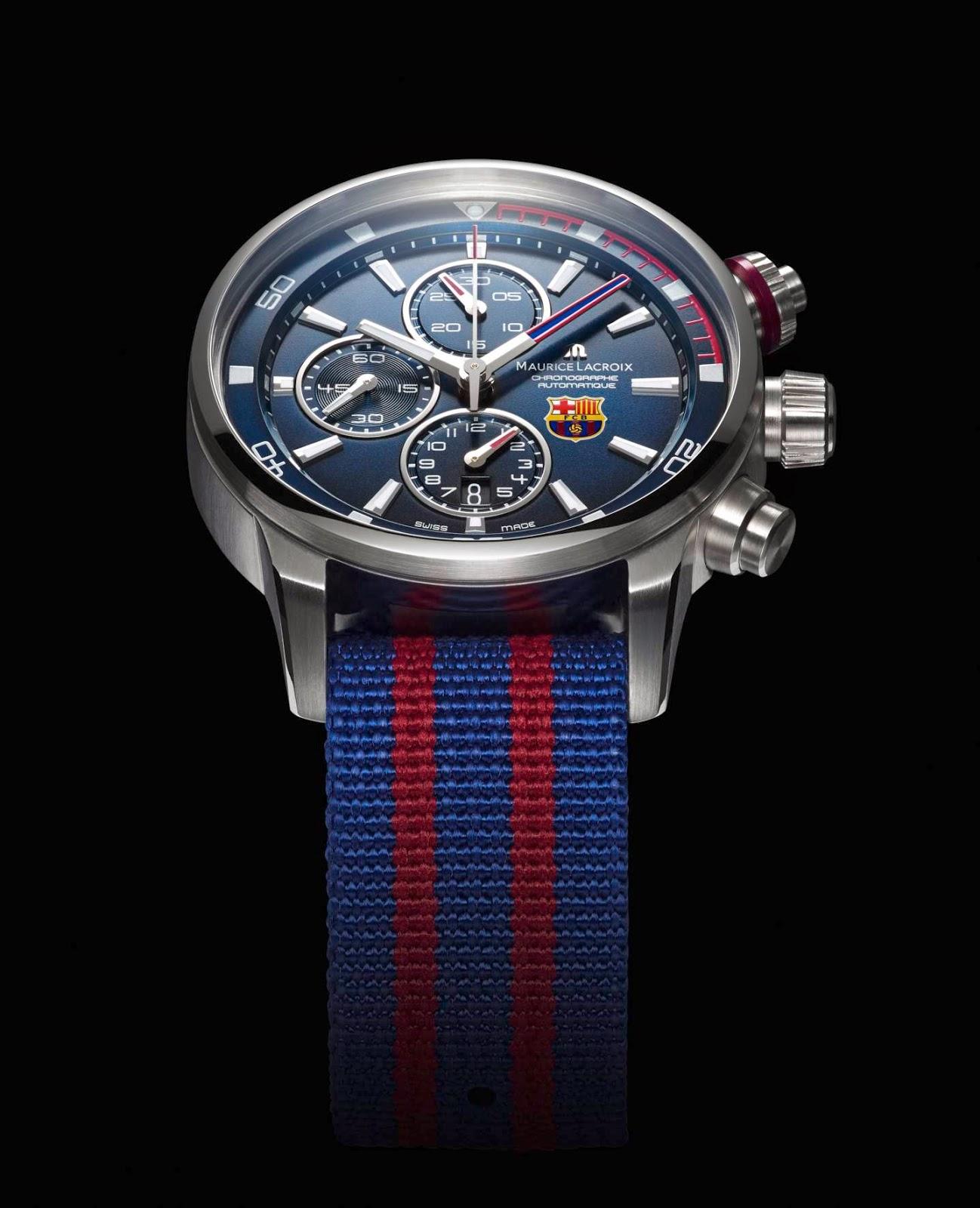 Maurice Lacroix Pontos S Chronograph for FC Barcelona (Nato Strap)
