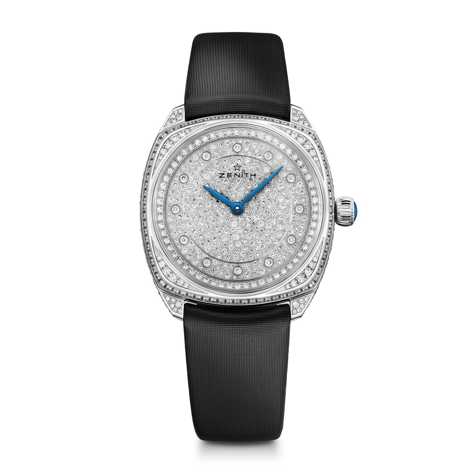 Zenith Star 33mm - White Gold Case, Dial entirely set with 2.71 carats of diamonds