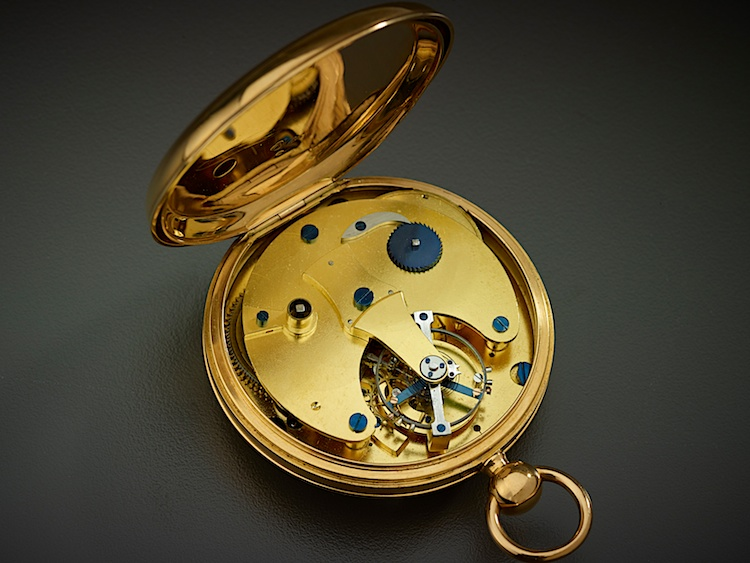 Breguet's No. 3204, with tourbillon visible (1822)