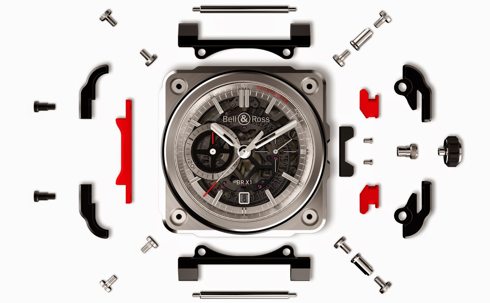Bell & Ross BR-X1 - The Hypersonic Chronograph -Exploded View