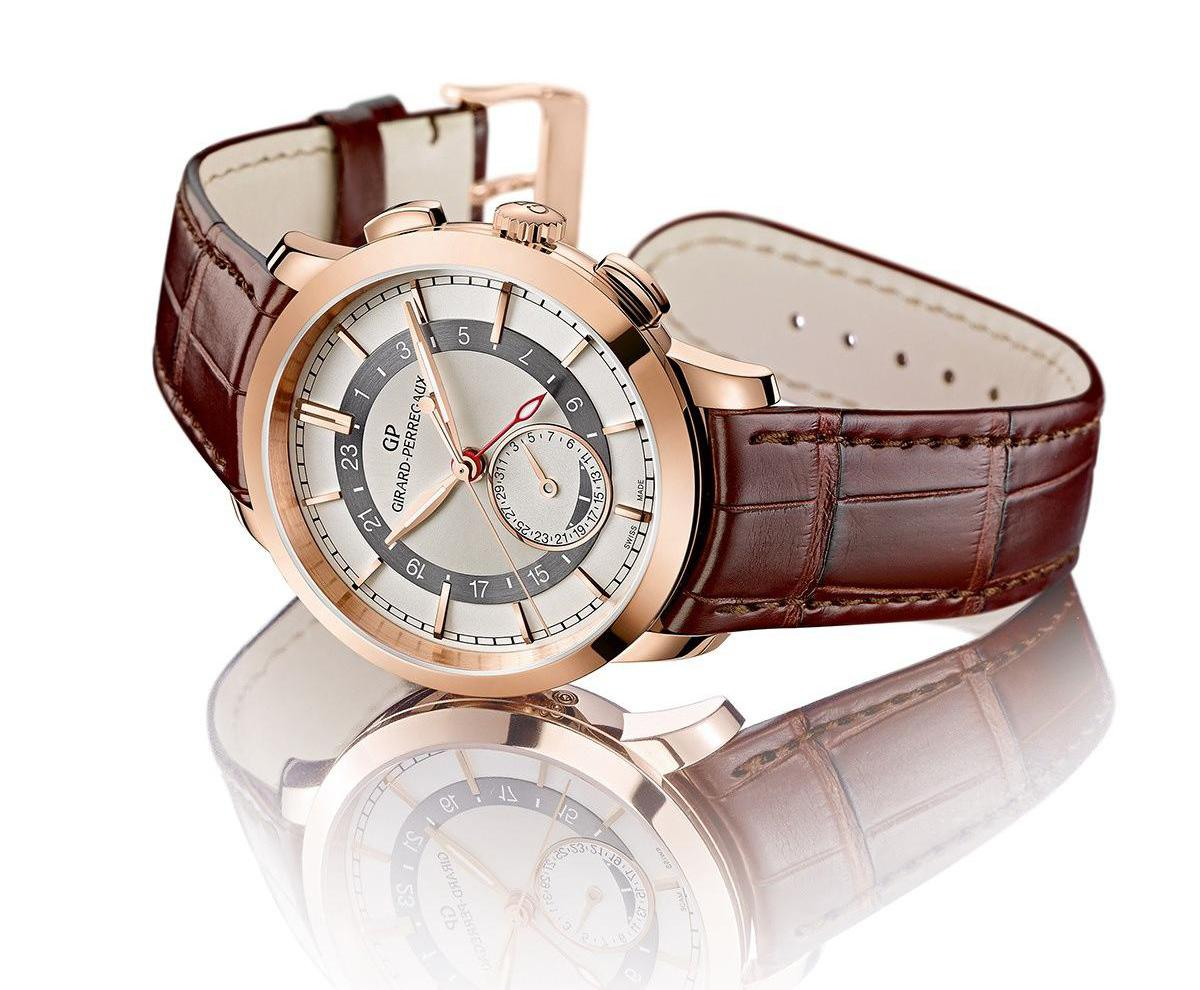 Girard Perregaux 1966 Dual Time - Crown & Pusher
