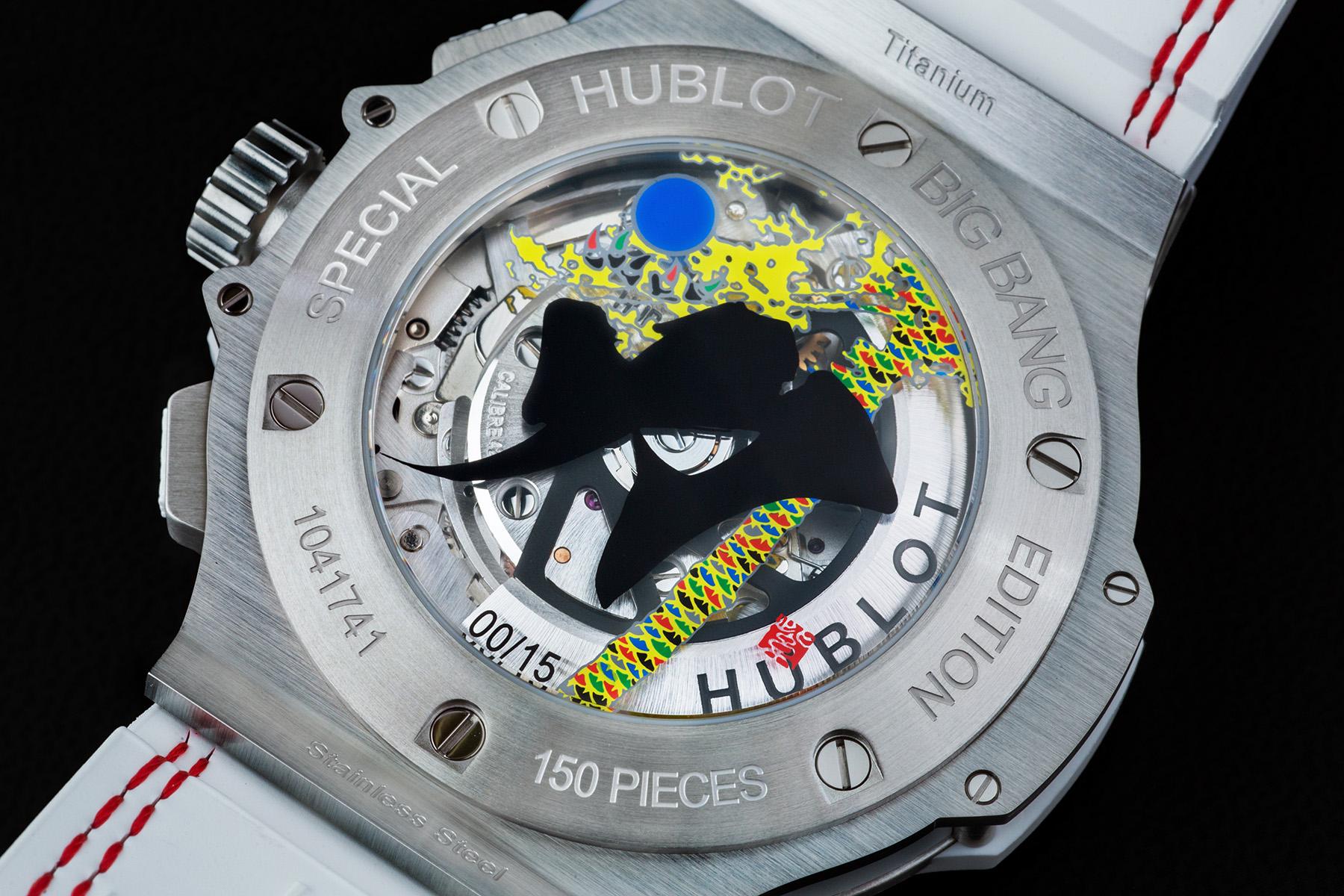 Hublot Aero Bang All White Special Edition Japan - Caseback