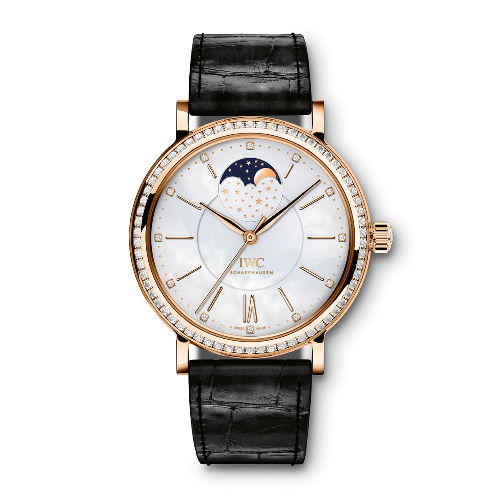 IWC Portofino Midsize Automatic Moon Phase - Red Gold