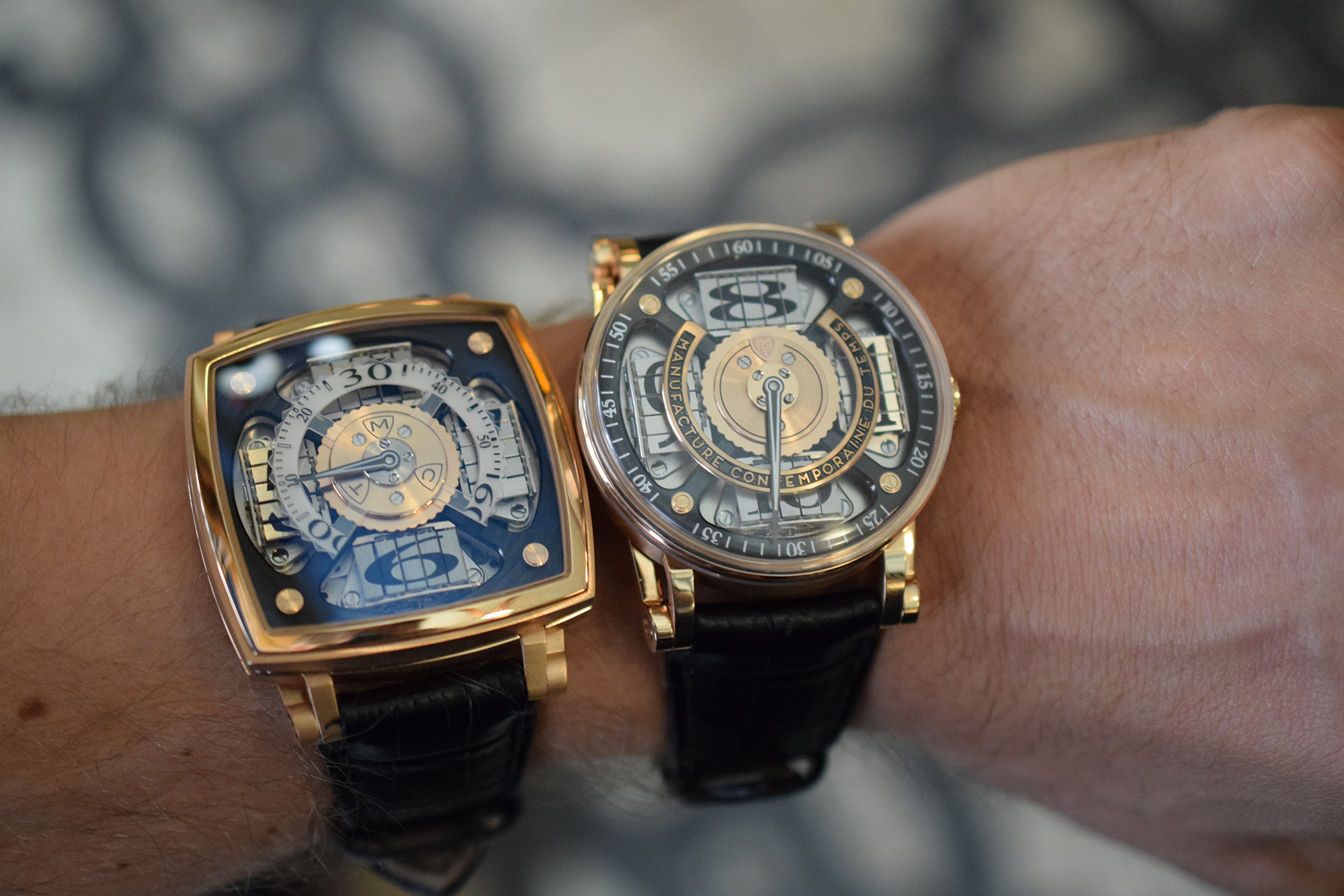 MCT Sequential 1 (S100) next to the new Sequential 2 S200 (Wristshot)