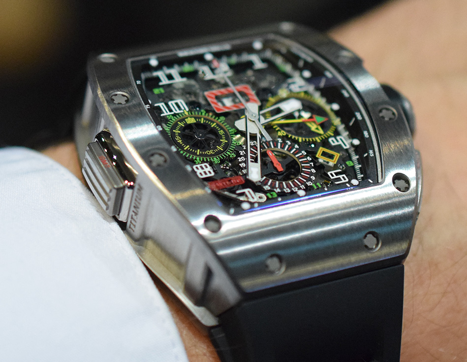 Richard Mille RM 11-02 Flyback Chronograph Dual Time - GMT Pusher
