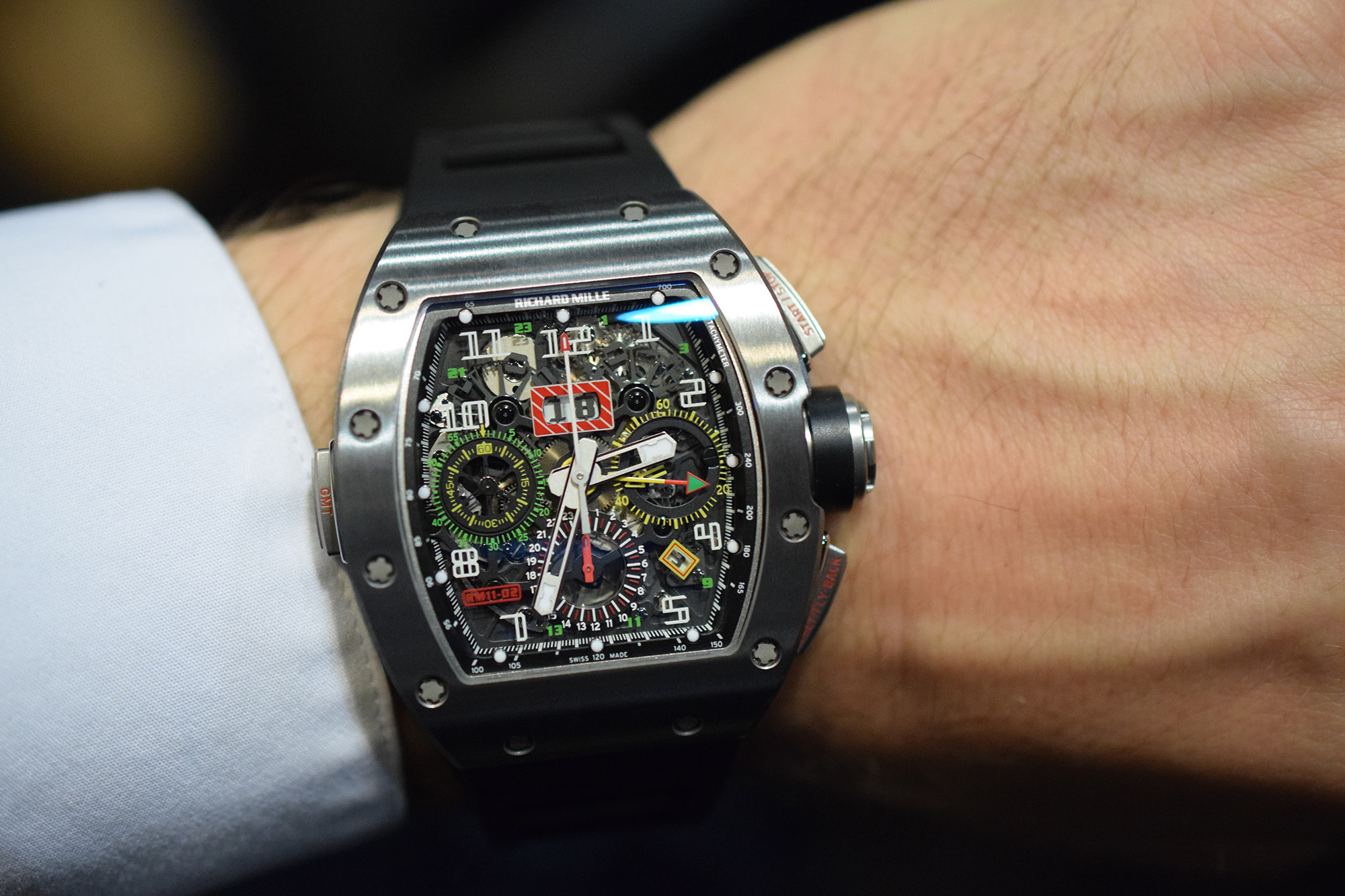 Richard Mille RM 11-02 Flyback Chronograph Dual Time - Wristshot