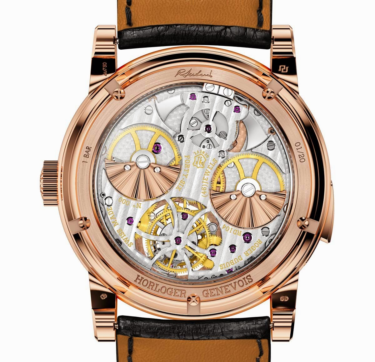 Roger Dubuis Minute Repeater Tourbillon Automatic - Caseback