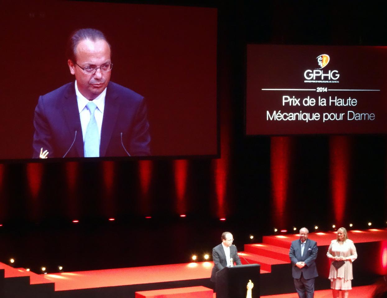 """Christophe Claret awarded """"Prix de la Haut Mecanique pour Dames"""""""
