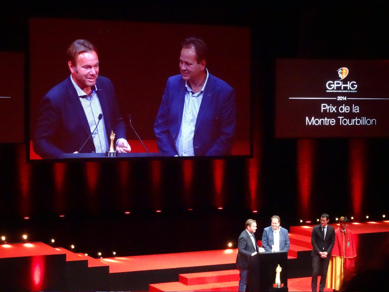 "The Grönenfeld brothers awarded ""Prix de la montre Tourbillon"""