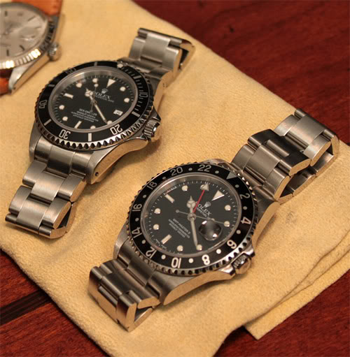 Rolex GMT-Master II next to the Sea-Dweller