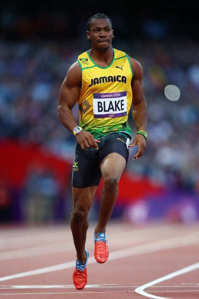 Yohan Blake at 2012 Olympic wearing Richard Mille Tourbillon