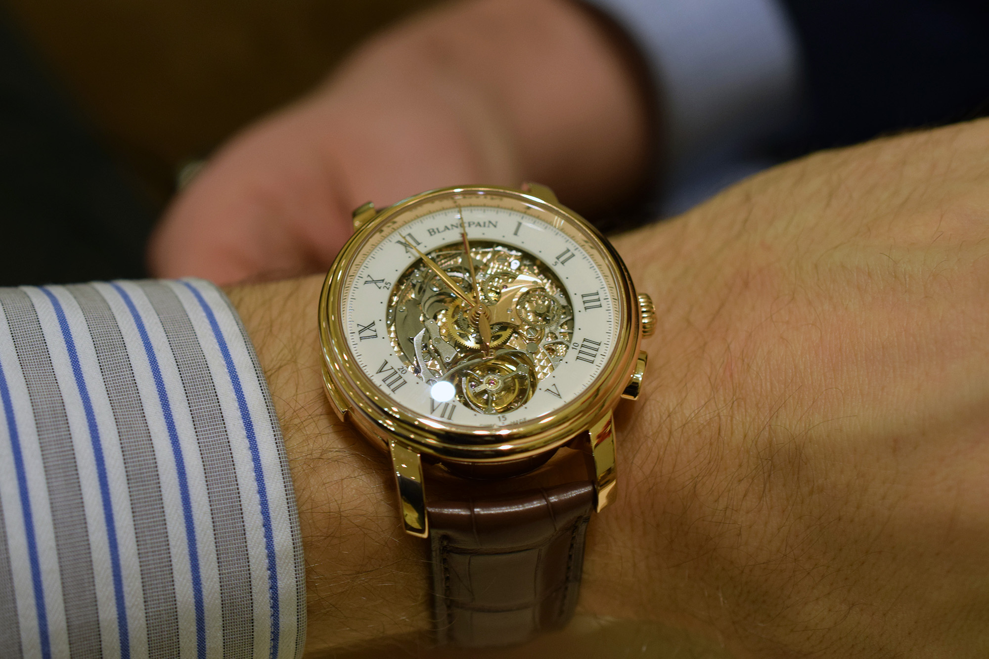 Blancpain Carrousel Répétition Minutes Chronographe Flyback - Wristshot