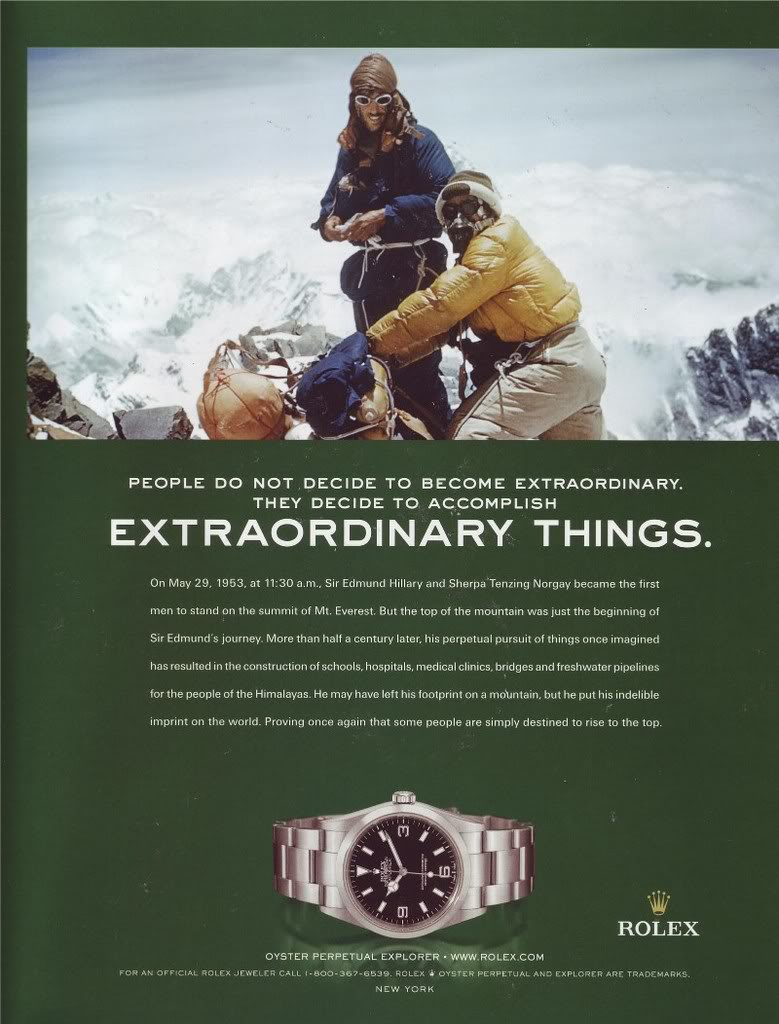 Rolex ad for Explorer Ref. 114270