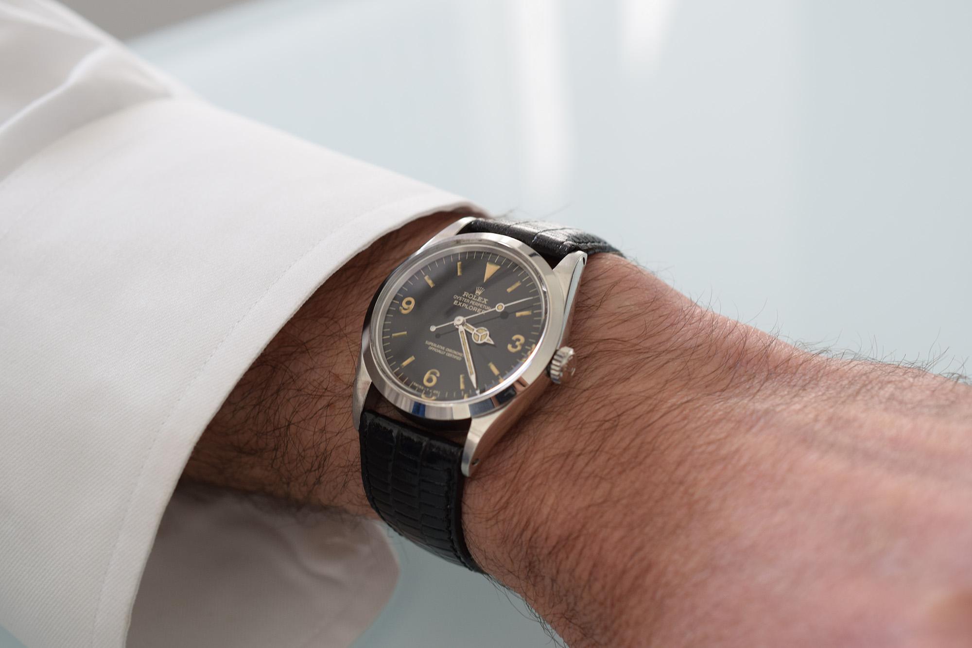 Rolex Explorer 1016 Gilt Dial Circa 1965 - Wristshot