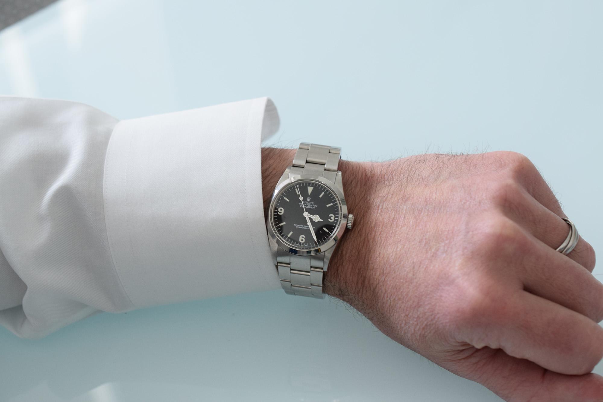 Rolex Explorer 1016 R Series Matte Dial Circa 1987 - Wristshot