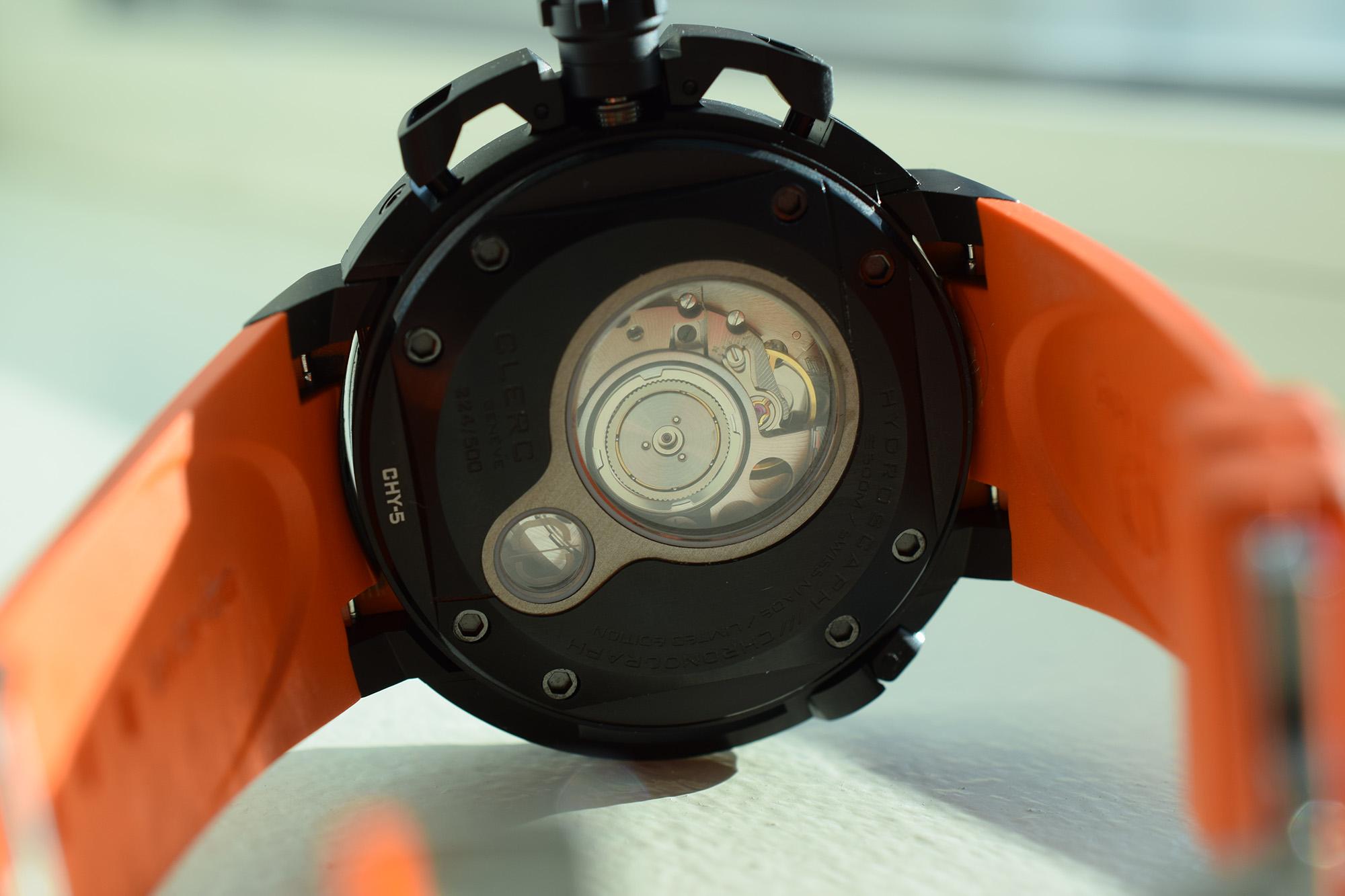 Clerc Hydroscaph Chronograph - Caseback