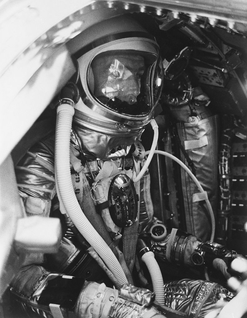 Scott Carpenter inside Aurora 7
