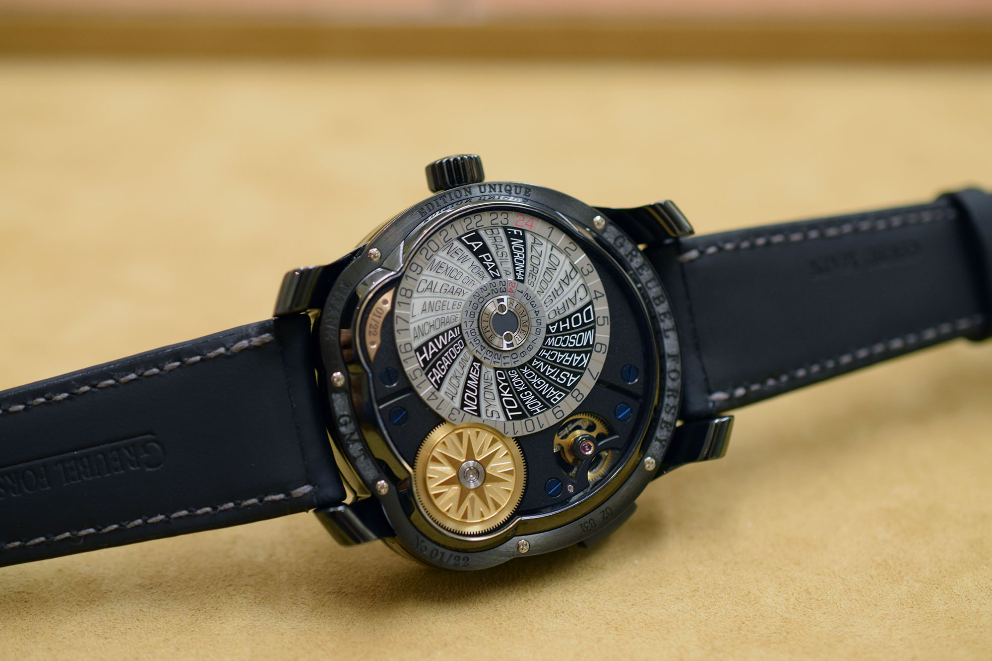 The Greubel Forsey GMT Black - Caseback