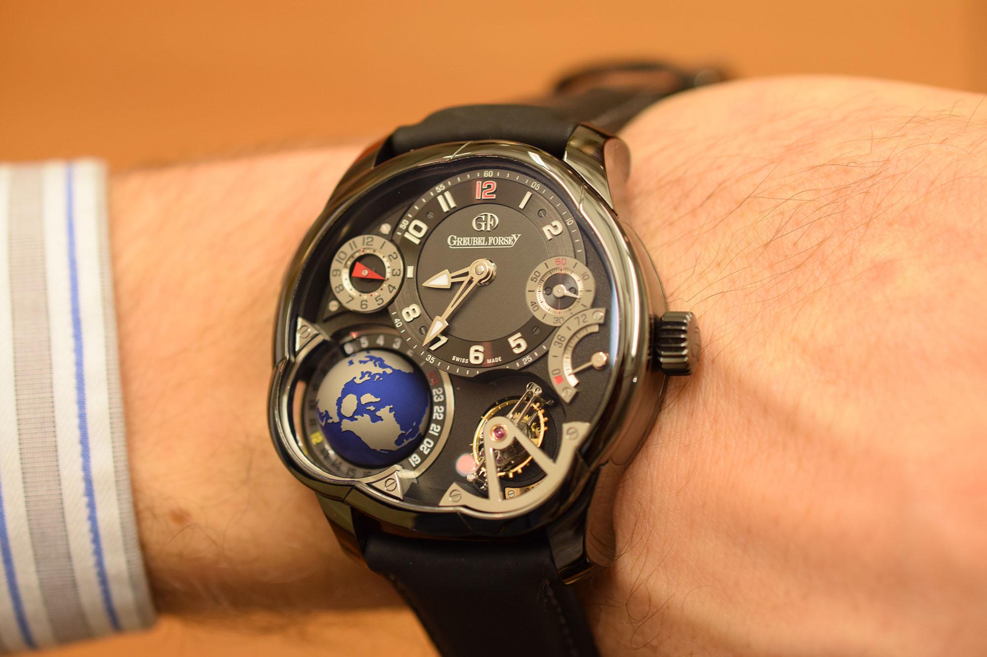 Greubel Forsey GMT Black - Wristshot